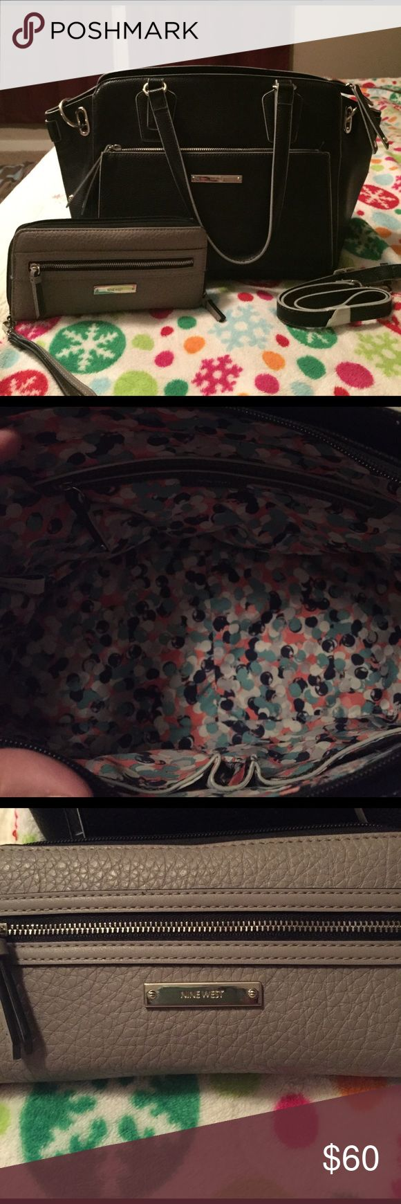 Nine West purse & wallet Beautiful Nine West purse in great condition. Comes with long handle. Nine West Wallet with wrist handle. Both in great condition! Nine West Bags Shoulder Bags