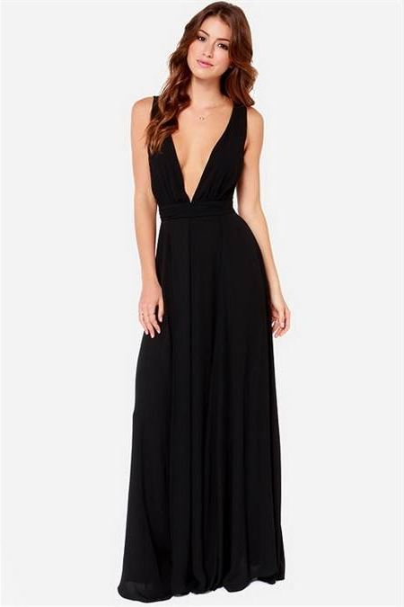 Nice Black maxi cocktail dress 2018-2019