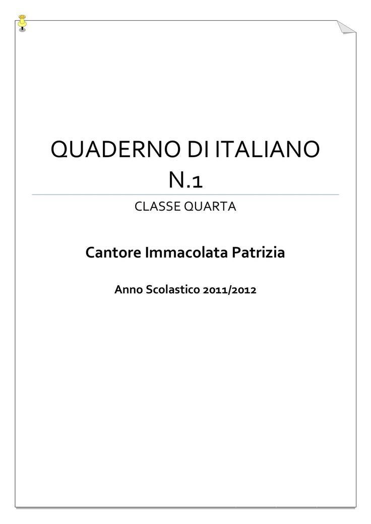 Quaderno di italiano | PDF to Flipbook