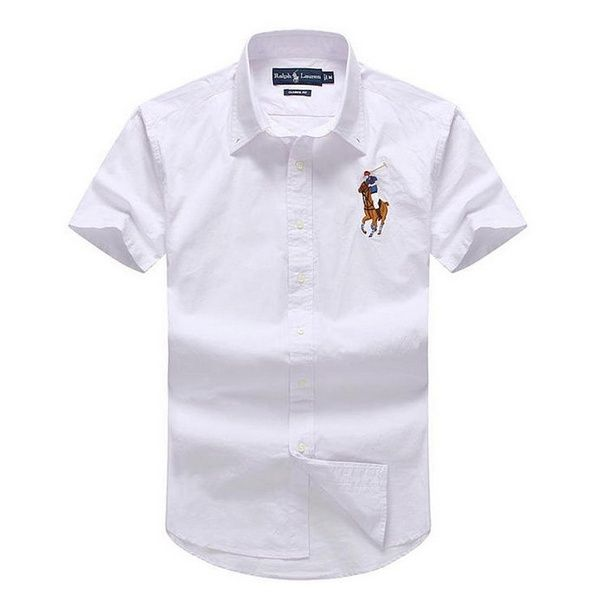 Nice men 39 s button down short sleeve custom fit shirt for Nice mens button up shirts