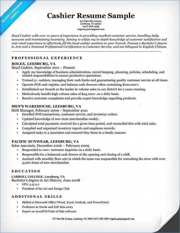 65 New Image Of Cashier Resume Examples Free Check More At Https Www Ourpetscrawley Com 65 New Image Of Cashier Resume Examples Free