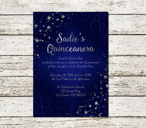 Hey, I found this really awesome Etsy listing at https://www.etsy.com/listing/267839566/quinceanera-invitation-under-the-stars