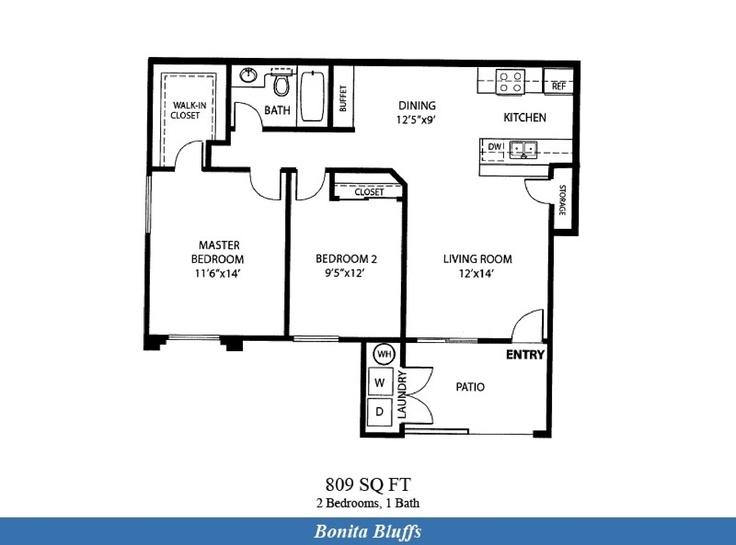 Naval complex san diego bonita bluffs neighborhood 2 for Apartment complex floor plans