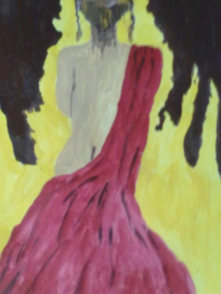 MUJER ANTE EL PECADO..Este es un boceto que hice en papel y para pasarlo después a lienzo e intentar mejorarlo dándole algunos detalles más. El principio ya está hecho je,je..