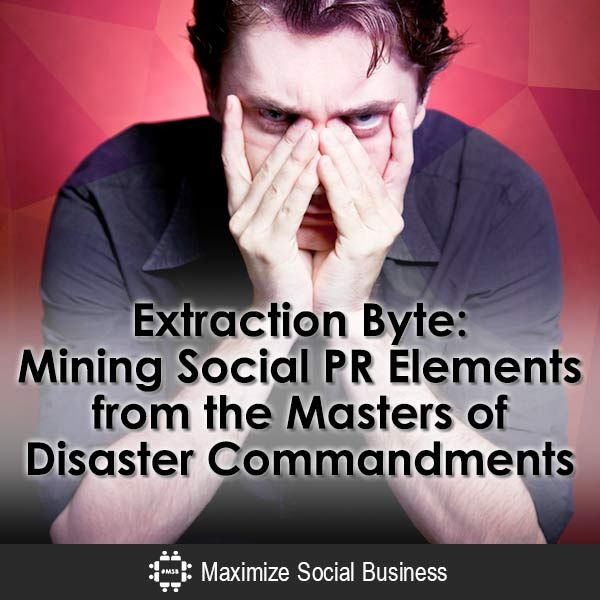Extraction Byte: Mining Social PR Elements from the Masters of Disaster Commandments