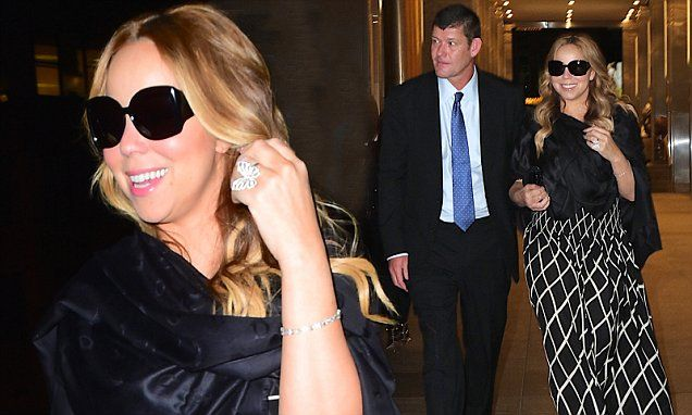 Beaming Mariah Carey dons black sunglasses after enjoying romantic dinner date with billionaire beau James Packer in New York