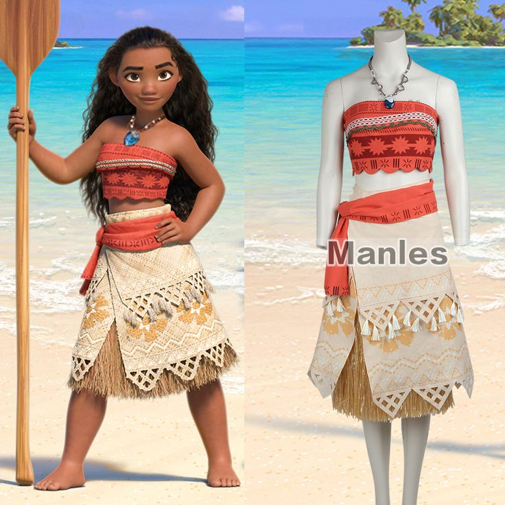 Cheap costume adult, Buy Quality cosplay costume directly from China costume halloween Suppliers: Moana Cosplay Costume Sexy Princess Costume Halloween Suit Movie Moana Costume Adult Women Girls Party Dress Skirt With Necklace