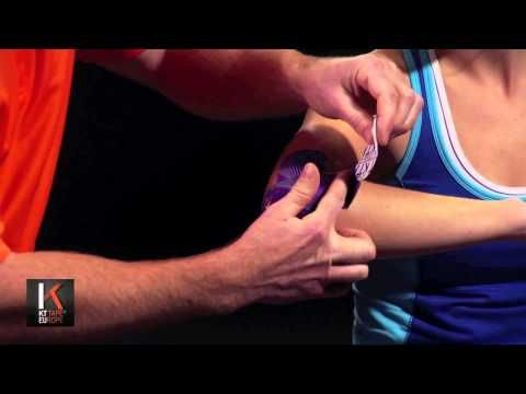 ▶ KT Tape Tennis Elbow Taping - YouTube.  Really interested in the form of healing. I'm so tired of the braces!