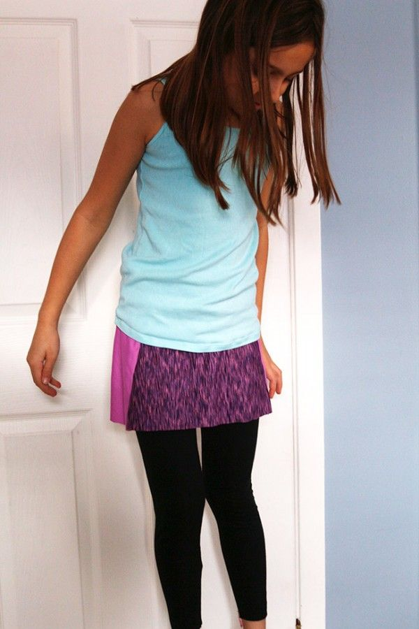 megan nielsen design diary: Tutorial // How to add an athletic skirt to leggings