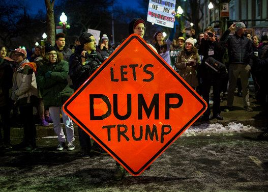 11 Donald Trump Protest Signs That Target His 'Stubby Fingers' And More