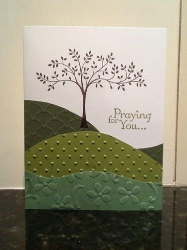 "Handmade Sympathy ""Praying For You"" Card Made With All Stampin' Up Products (I'd like to do something a little different with this... not sure what, though!)"