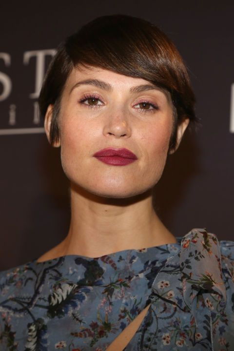 With a jawline like that it's no surprise Gemma Arterton just persuaded us that a bowl cut was a good idea.