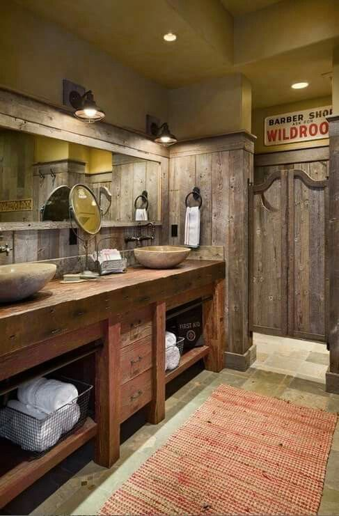 Could this be anymore amazing! Love the rustic western look. All you need is a pop of color.