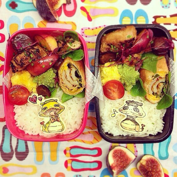 おはようさんです 今日はペスタスバン、お兄やんの劇の発表会です パパは出張で不在ですが、チビと2人でお弁当持って見に行きます 上手にできるかな?? 本日のお品書きは、 ⚫︎トンテキ秋味 りんごと栗とマッシュルームのカラメル和え ⚫︎千織さんの豆苗と竹輪の春巻き ⚫︎さつまいもとオレンジのミルクマッシュ ⚫︎いちじく ⚫︎ロマネスク ⚫︎プチトマト - 64件のもぐもぐ - Yokaiwatch Tsuchinoko and Tsuchinokopanda  Autumn sautéed pork with caramelized fruits bento 妖怪ウォッチ ツチノコ、ツチノコパンダ  トンテキ秋味フルーツカラメル和え弁当 by Yuka Nakata