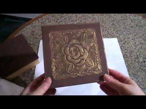 Caixa mdf decorada com toalha de plástico. - YouTube
