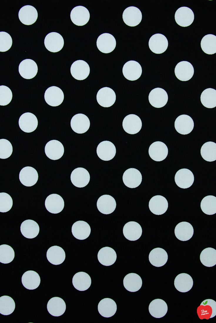 Black And White Medium Polka Dot Fabric Apparel Fabric Polka Dot Fabric Polka Dots Fabric