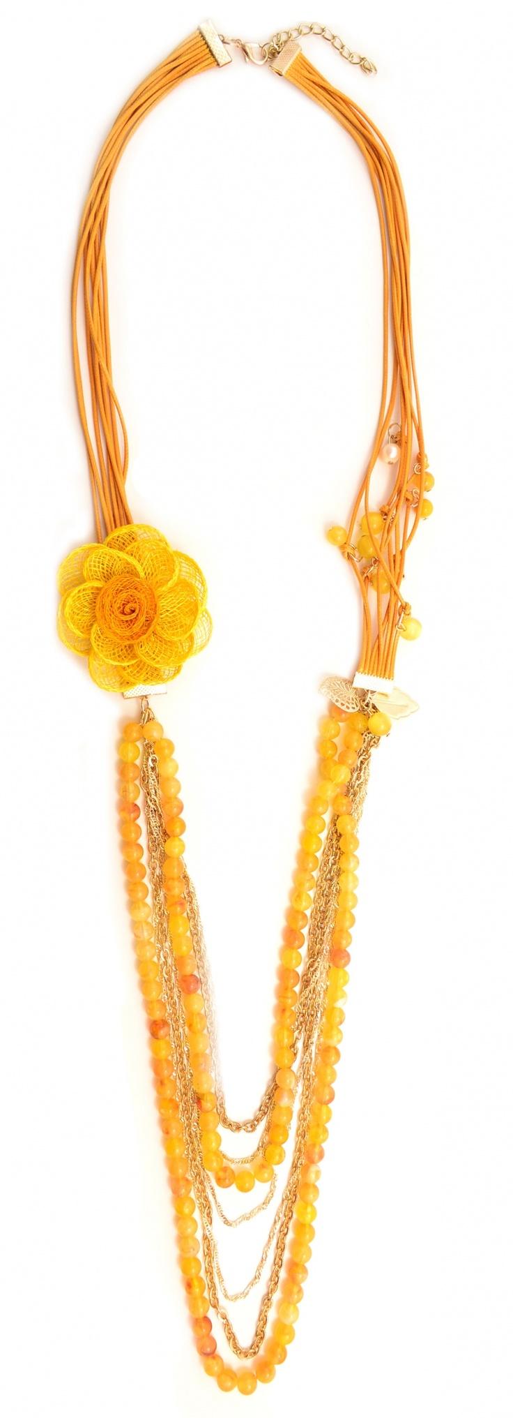 """Colier """"Yellow flower"""" - Meli Melo - Paris"""