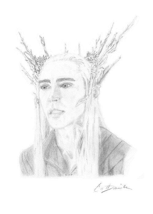 Elven King Thranduil Lee Pace as Elf King Mirkwood by CatDKnits