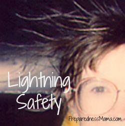 Lightning Safety - Static hair is a danger sign http://preparednessmama.com