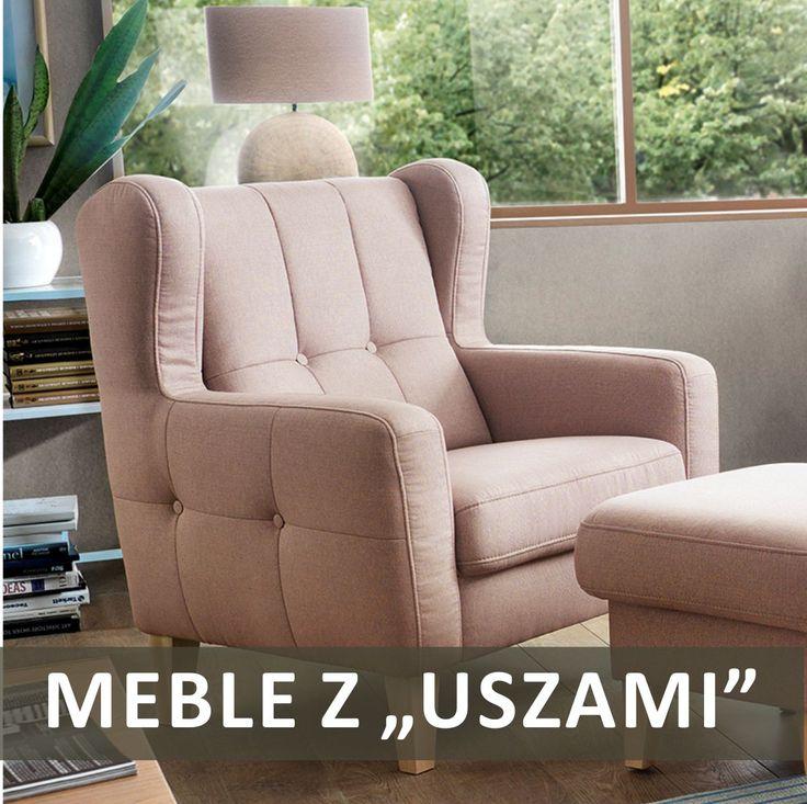 """Meble """"z uszami"""" to meble inspirowane stylem angielskim. Wygodne i komfortowe, dzięki """"uszom"""" nabierają ciekawego charakteru i zupełnie odmieniają aranżację salonu. #GalaCollezione #SweetSit #meble #fotele"""
