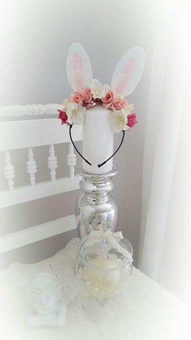 Easter Bunny Flower Headband♡ Husveti nyuszifules viragos hajraf♡