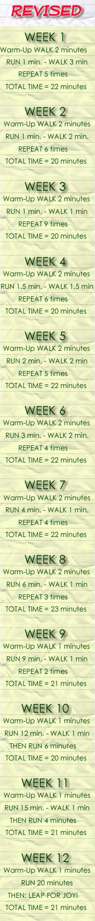 Beginner Running Training Routine - Revised