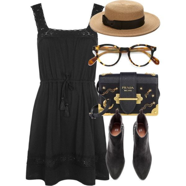 A fashion look from May 2017 featuring Topshop dresses, Prada shoulder bags and Forever 21 hats. Browse and shop related looks.
