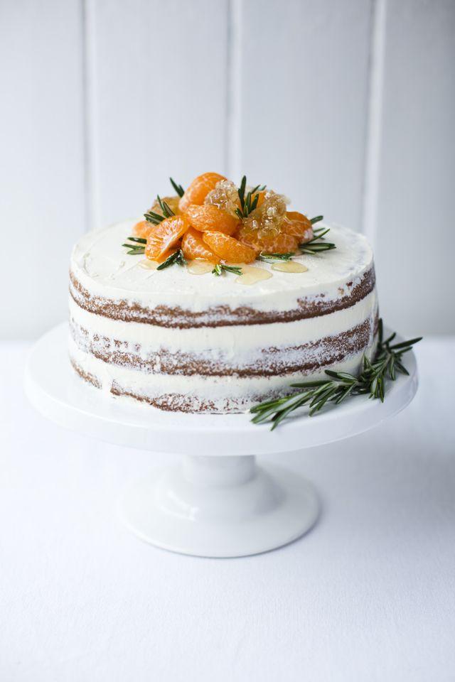 Spiced Clementine Yogurt Ricotta Cake