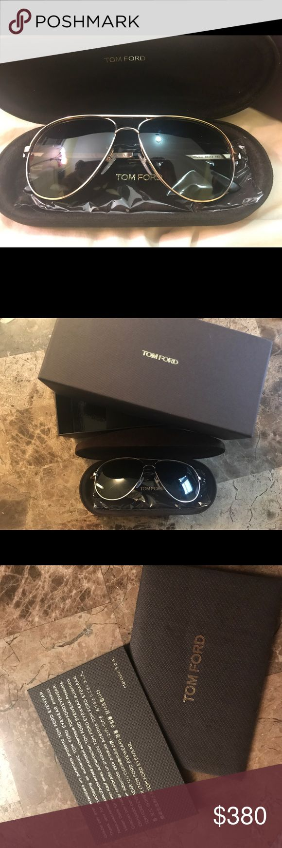 New! Tom Ford Marko Polarized Aviator Sunglasses Just purchased last month, worn once! Color is Rose Gold. Comes with sunglasses case, cloth (never opened and used the cloth) and authenticity card. Perfect condition. NO scratches. Tom Ford Accessories Sunglasses