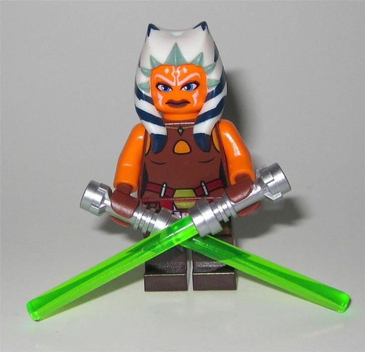 LEGO Star Wars 75013 AHSOKA TANO JEDI Double Lightsaber Minifigure NEW!