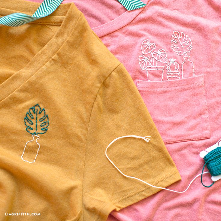 Embroidering is a great way to make your own one-of-a-kind fashion statement - time to share our t-shirt embroidery tutorial so you can get in on the trend!