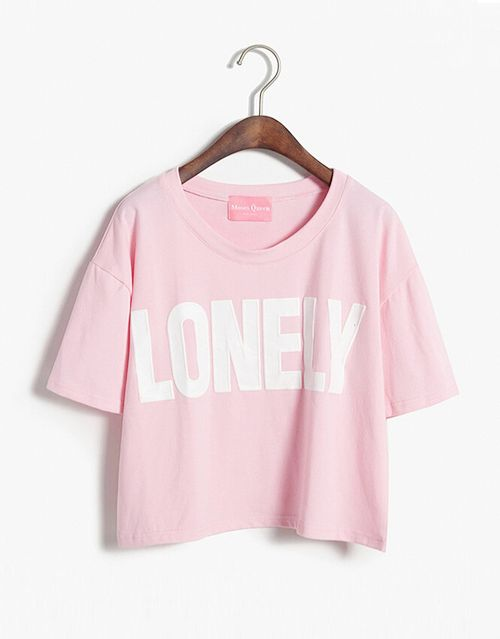 Ana Rosa, ryeou: lonely pink tee // $19.99