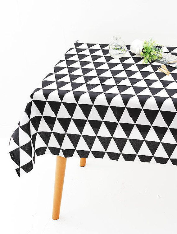laminated geometric tablecloth