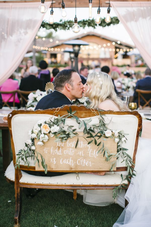 Adorable sweetheart bench: http://www.stylemepretty.com/california-weddings/rancho-santa-fe/2016/05/18/see-why-this-california-wedding-is-a-treasure-trove-of-pretty/ | Photography: Josh Elliott Studios - http://joshelliottstudios.com/