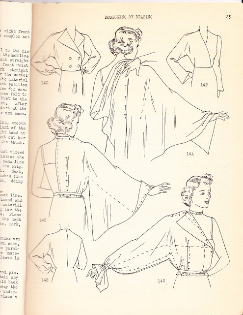 1930s Draping Book - sleeves