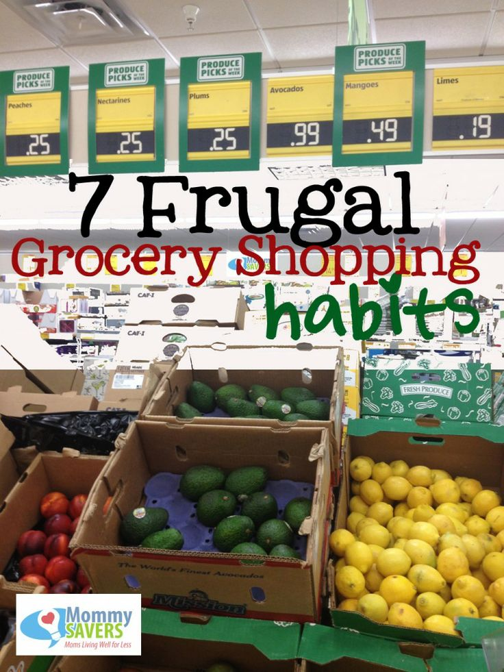 Want to save?  Here are some frugal grocery shopping habits!  #shopping, #groceries, #frugalshopping