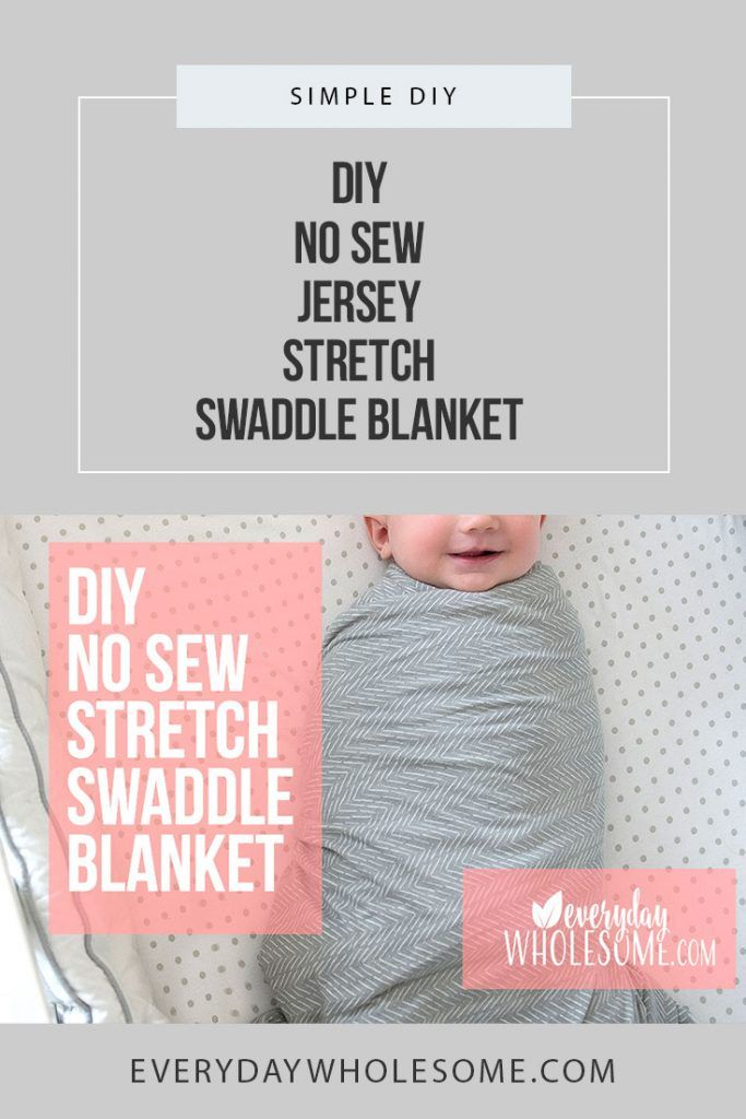 Stretchy Swaddle Blanket How To Make Diy Baby No Sew Diy Baby Blanket Swaddle Blanket Diy Swaddle Diy