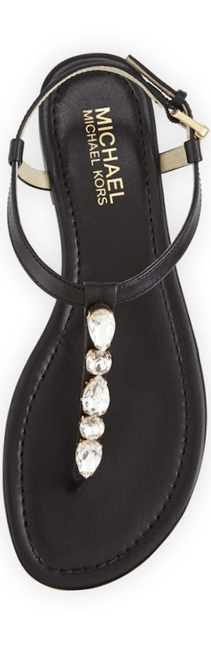 MICHAEL Michael Kors Jayden Embellished Thong Sandal | The House of Beccaria#: