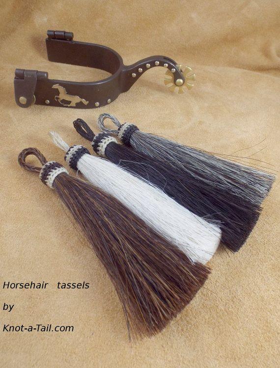Horsehair tassels natural  5 1/2 Long horsehair tassel