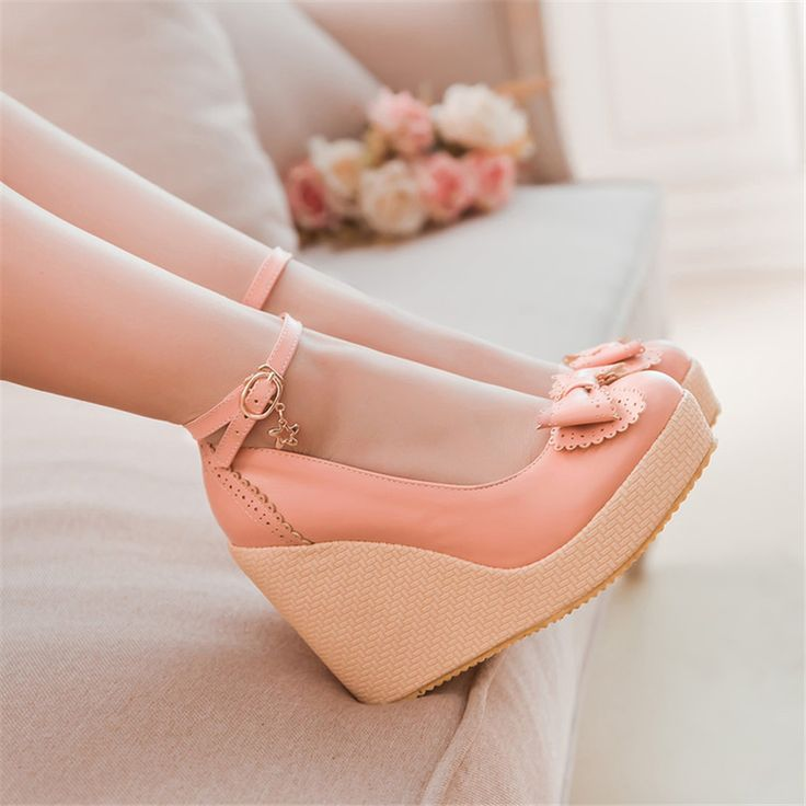 Pumps shoes woman PU New 32 33 40 41 high heel  10CM Platform 2CM 31-43