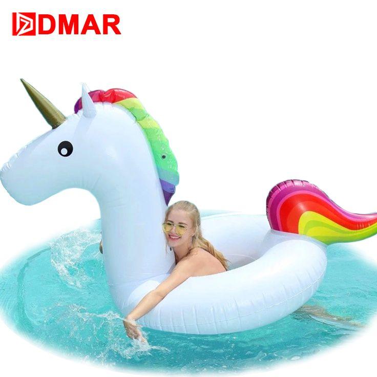 DMAR Aufblasbare Einhorn Schwimmen Ring Riesigen Pool Schwimmen Matratze Swimming Kreis für Kinder Erwachsene Strand Wasser Partei Spielzeug Beste Geschenk