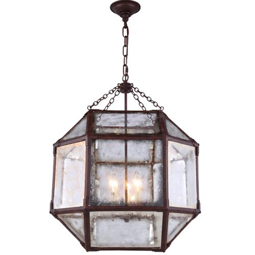 Traditional Pendant Light -   Each piece is carefully burnished to achieve a subtle patina that filters light to create the perfect ambiance.   Item # WIG 551413D19/SR  Custom Lighting