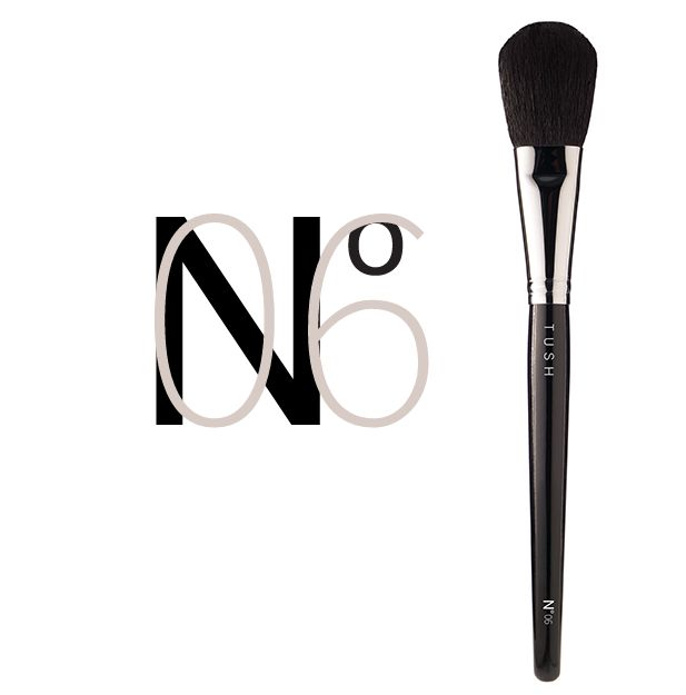 Nr 06 Blush Brush. Classic rounded blush brush made of natural goat bristles that gives you superior grip on any powder structure. Available at www.tushbrushes.com