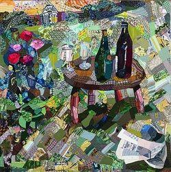"""Edrica Huws - """"Bottles on Garden Table"""" (1983)"""