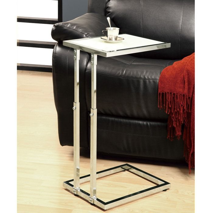 Captivating Sliding Accent Table With Adjustable Height