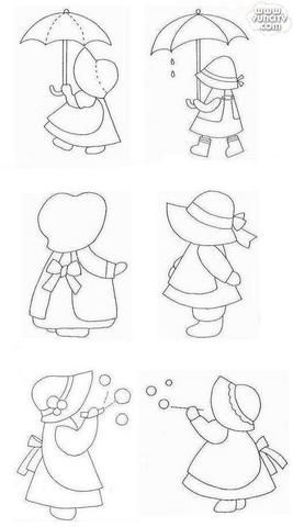 Sunbonnet Sue Spring activities templates