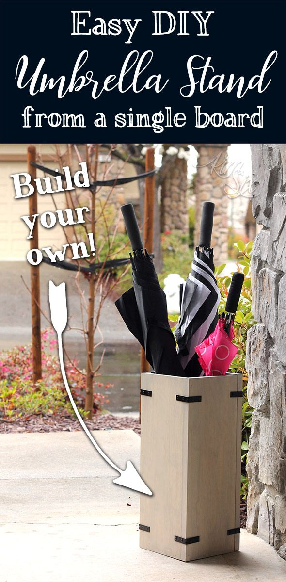 Easy Diy Umbrella Stand From One Board Diy Projects From The Kim