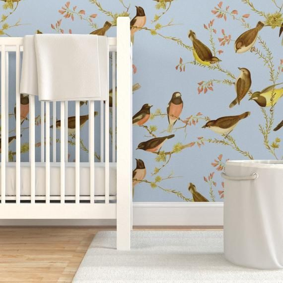 Bird Wallpaper Birds Of Australia Versailles By Peacoquettedesigns Custom Printed Removable Sel In 2020 Custom Wall Stickers Self Adhesive Wallpaper Bird Wallpaper