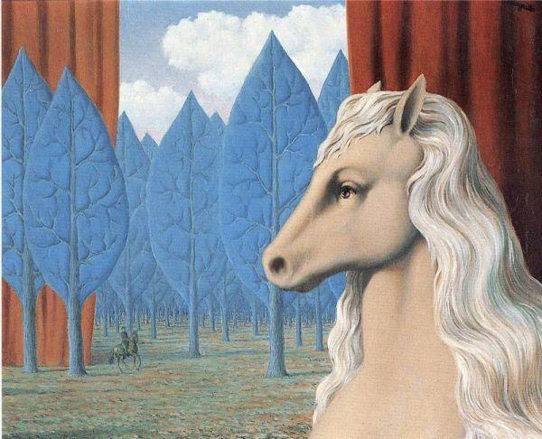 Reproduction de Magritte, La raison pure. Tableau peint à la main dans nos ateliers. Peinture à l'huile sur toile.