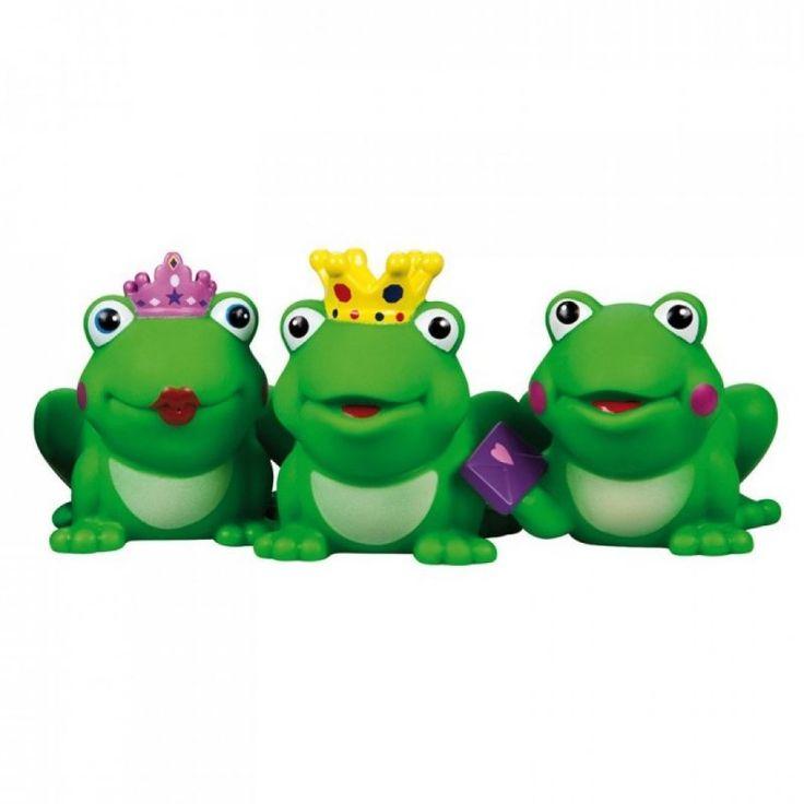 Három különböző béka, békakirálynő, béka királyfi, és egy mosolygós béka található. Kérjük, hogy megrendeléskor a megjegyzés rovatba mindenképpen jelezze, hogy melyik fajta békát szeretné. 2 éves kortól ajánljuk.